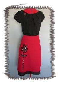 kj 10 12 03 red skirt black top.jpg